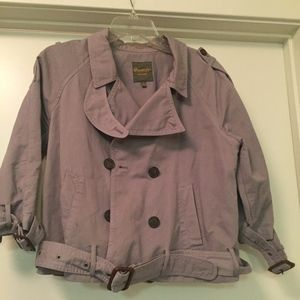 Jackets & Blazers - **Moving Sale - Mauve Cropped Trench Jacket